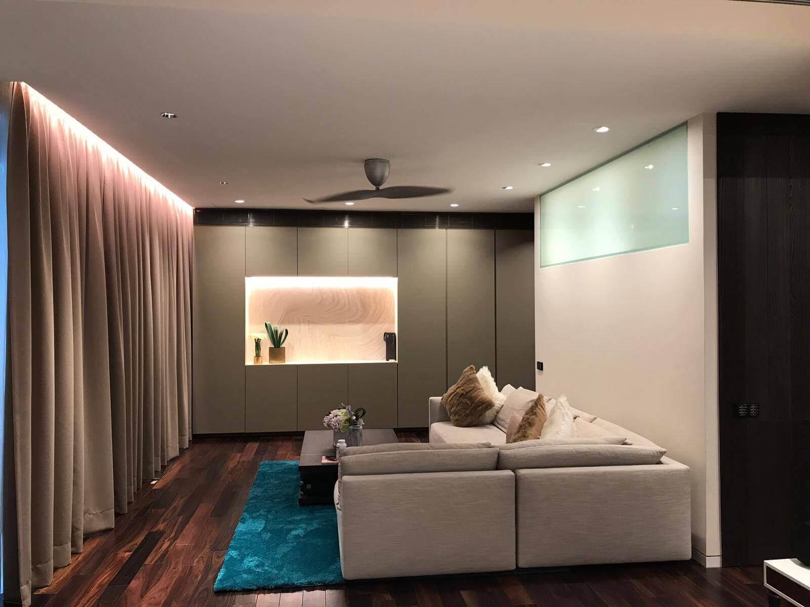 7A Swettenham ham Residential livingroom lighting project