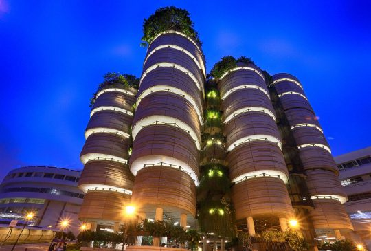 Facade lighting ntuc singpaore- ighting project