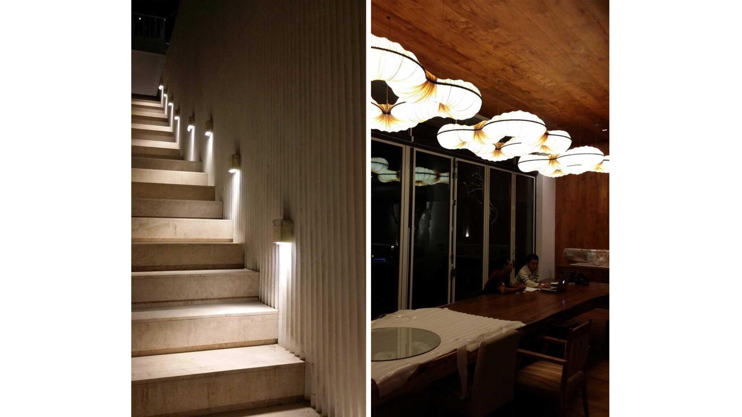 bali vila staircase night 1
