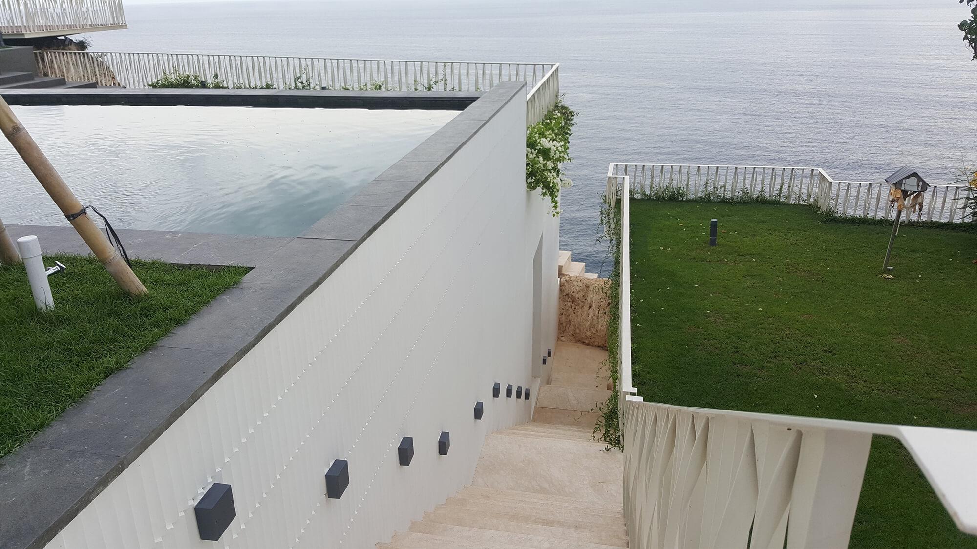 bali villa staircase