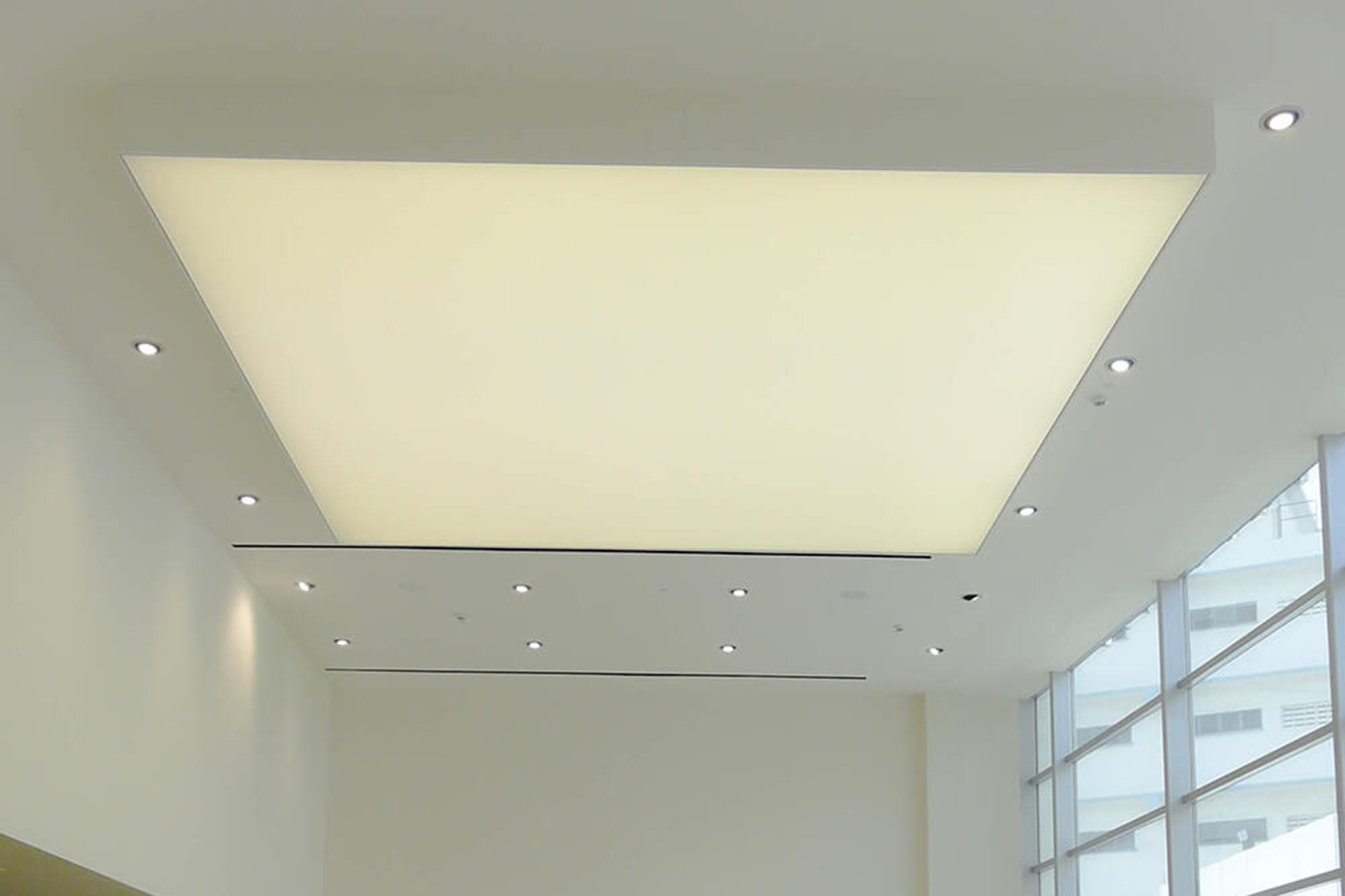 ceiling lighting car showroom
