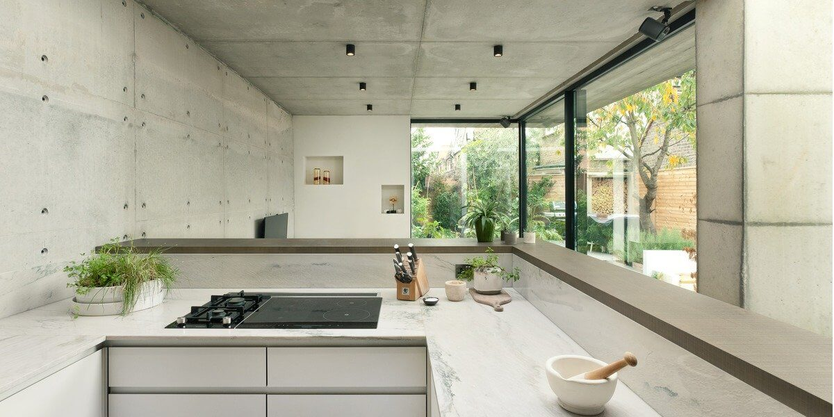 Double concrete house London