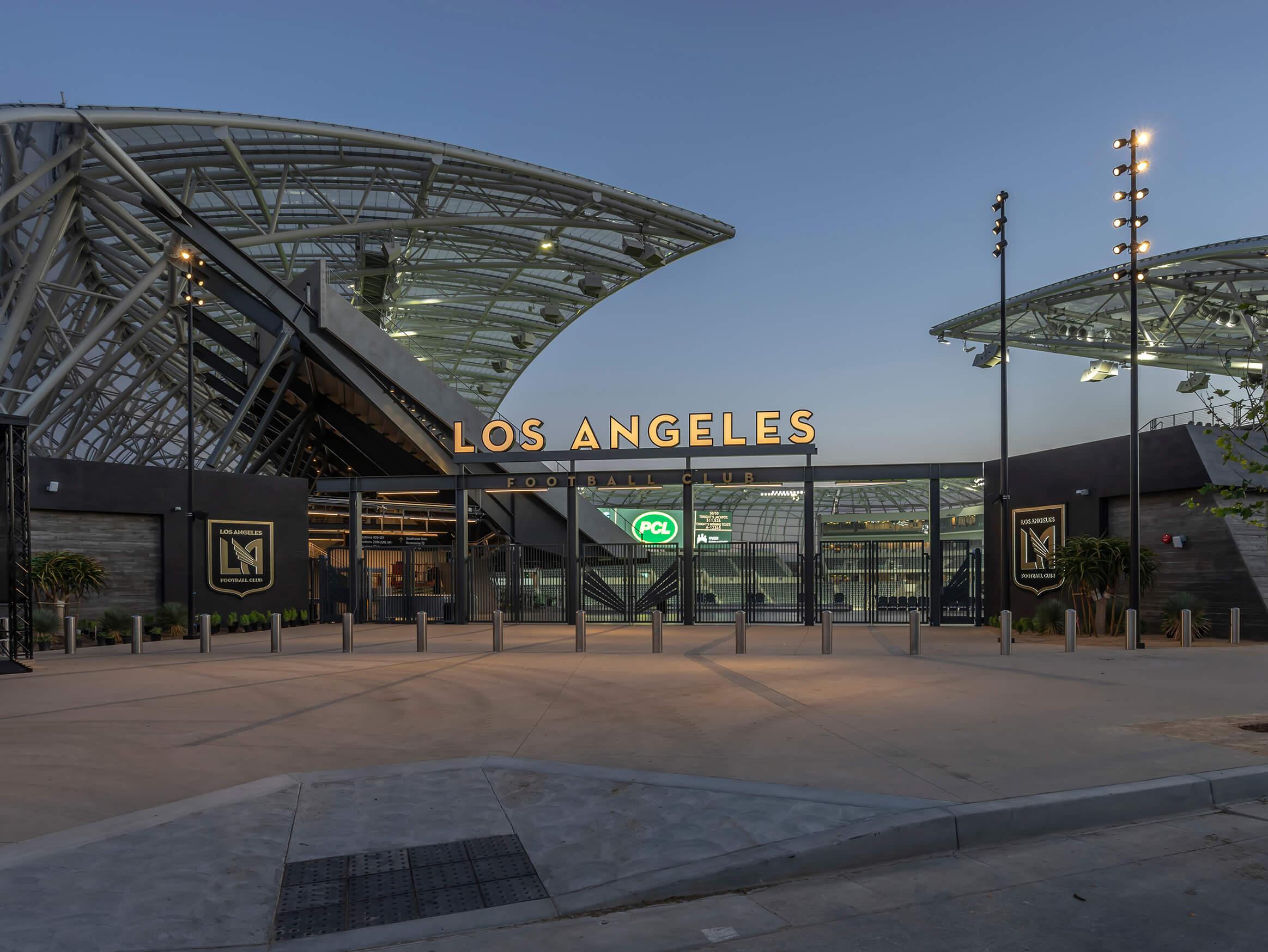 Banc of California Stadium Lighting Project Targetti