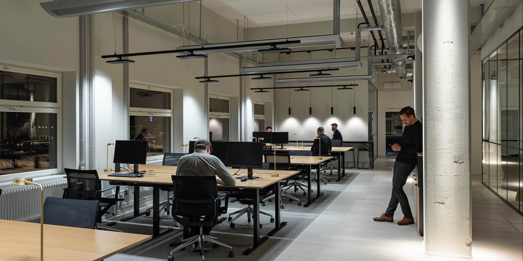 ERCO office project with led light Swedish