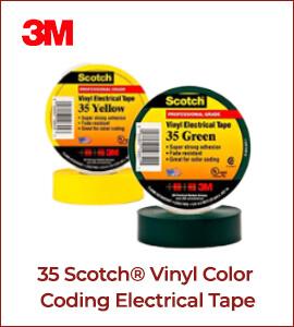35 Scotch Vinyl Color Coding Electrical Tape