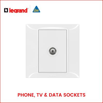 Legrand-BELANKO S PHONE, TV AND DATA SOCKETS